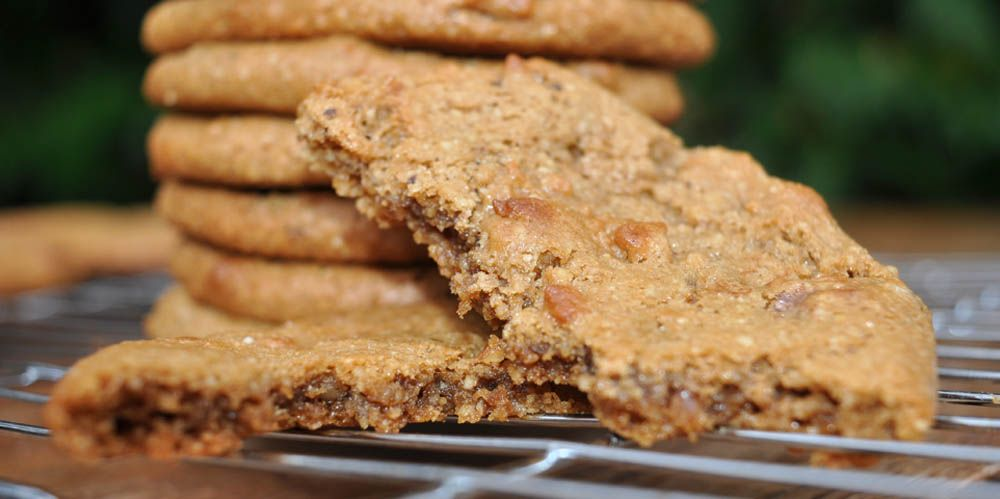 Coffee Walnut Cookies Recipe — Dishmaps