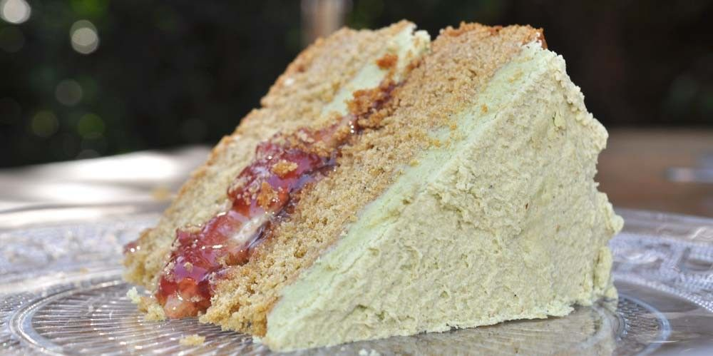 Halloween Matcha Victoria Sponge Cake