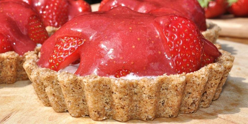 Strawberry and Coconut Cream Tart