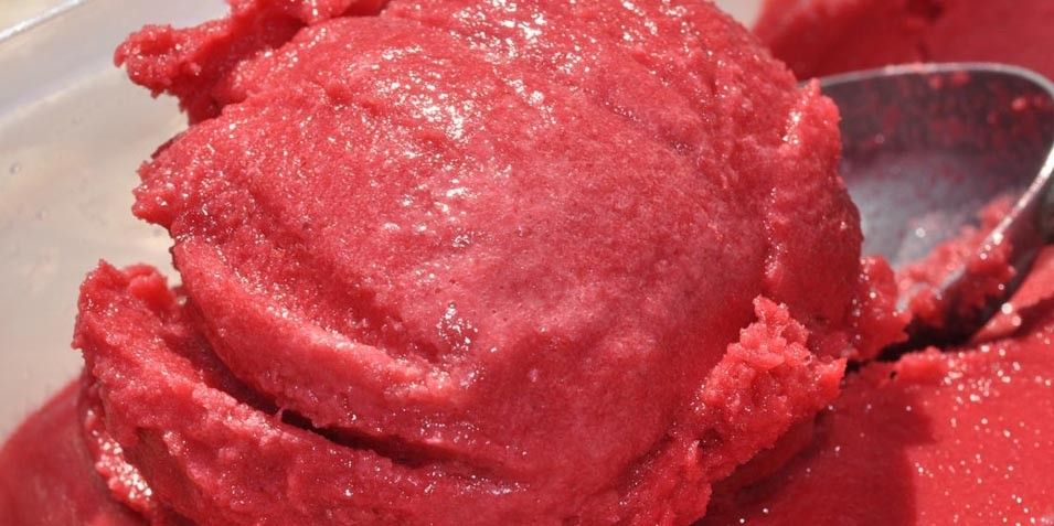 Sweet Refreshing Raspberry Sorbet