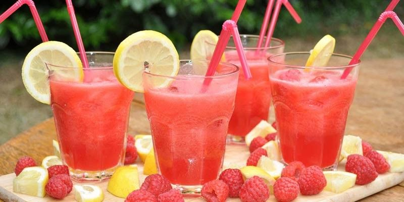 Sweet Tangy Raspberry Lemonade