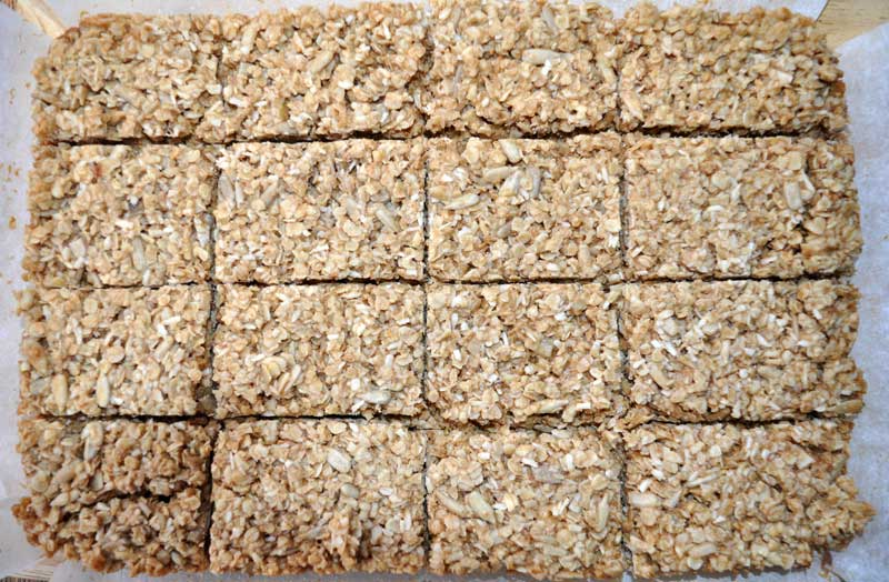 Coconut and Sunflower Seed Flapjacks