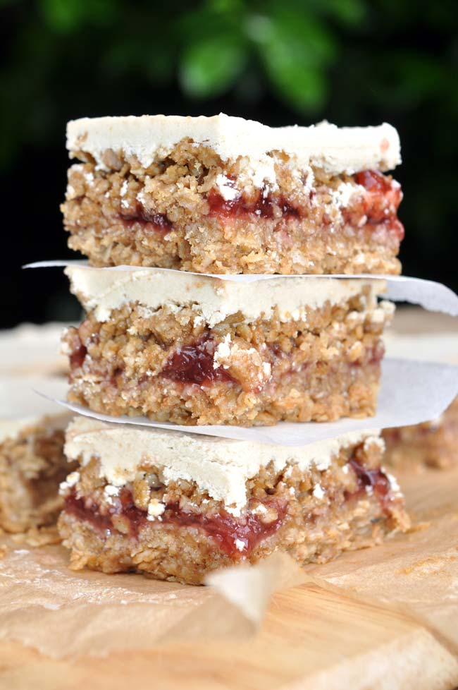 Strawberry and White Chocolate Flapjacks