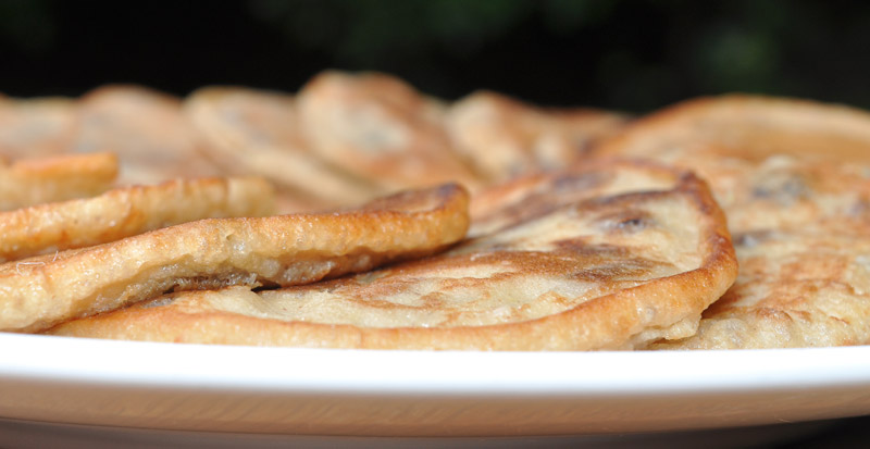 lemon and sultana pancakes
