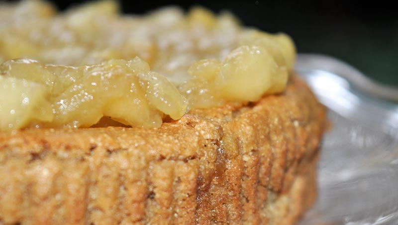 Mothers Day Apple Caramel Cake