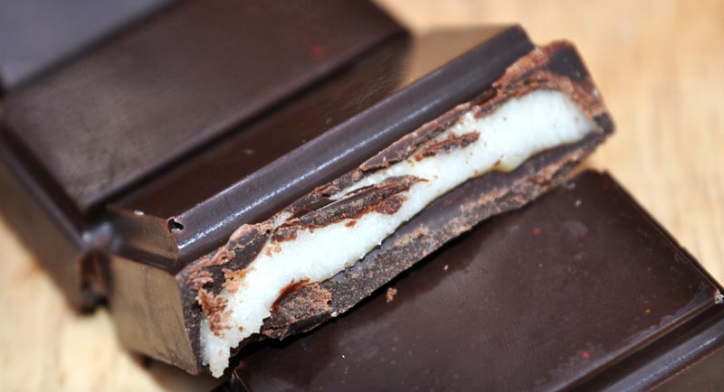 peppermint cream chocolate bar