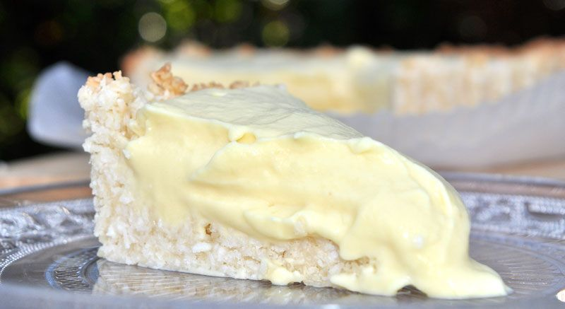 Pineapple Cream Pie with a Macadamia and Coconut Crust
