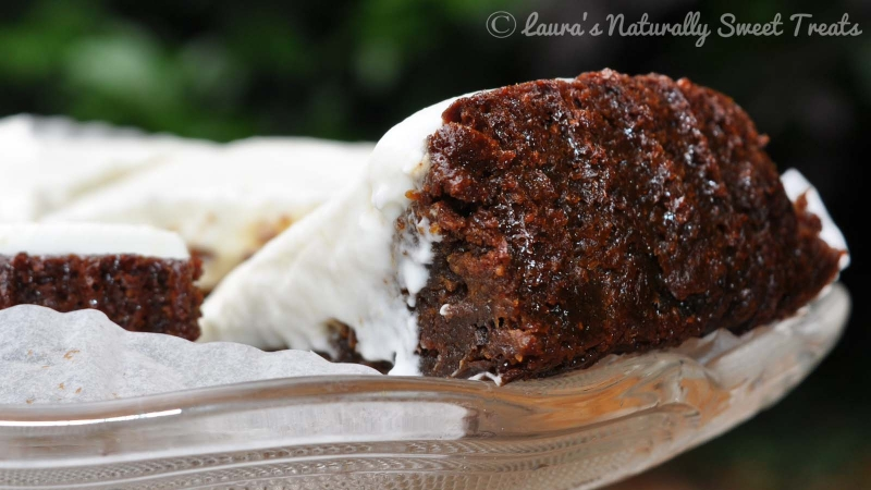 Dark Ginger Cake with a Lemon COYO Frosting