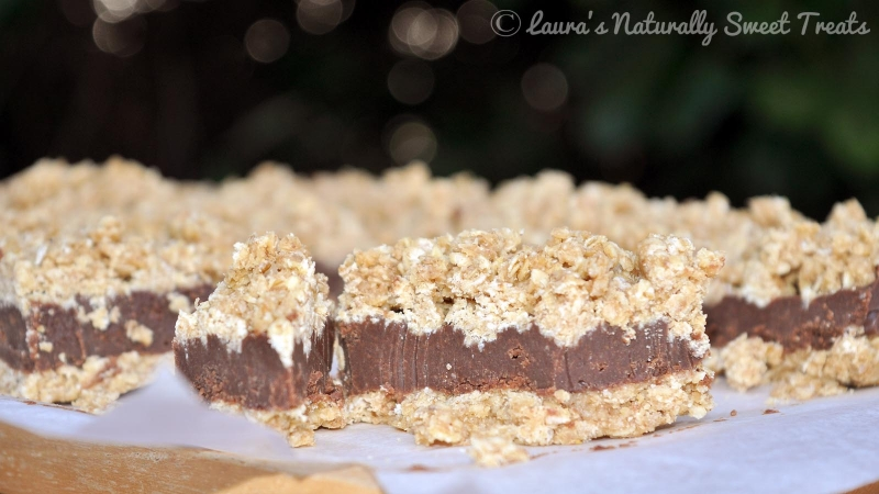 No Bake Chocolate Peanut Oat Bars